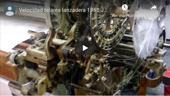 Noguera,s.a. velocidad telar lanzadera 1955 JNB