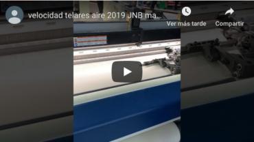 Velocidad telar Picanol aire 2019 JNB